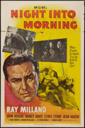 "Movie Posters:Drama, Night Into Morning (MGM, 1951). One Sheet (27"" X 41""). Drama.. ..."