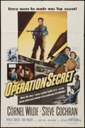 "Movie Posters:War, Operation Secret and Other Lot (Warner Brothers, 1952). One Sheets (2) (27"" X 41""). War.. ... (Total: 2 Items)"