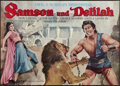 """Movie Posters:Adventure, Samson and Delilah (Paramount, R-1960s). German A0 (32.5"""" X 46.5"""").Adventure.. ..."""