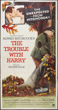 """The Trouble with Harry (Paramount, 1955). Three Sheet (41"""" X 81""""). Hitchcock"""