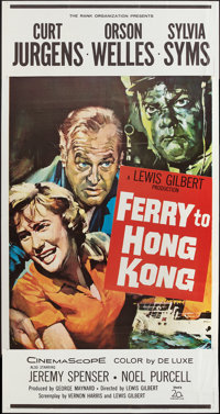 "Ferry to Hong Kong (20th Century Fox, 1959). Three Sheet (41"" X 81""). Action"