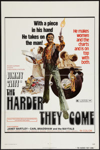 "The Harder They Come (New World, 1973). One Sheet (27"" X 41""). Blaxploitation"