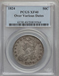 Bust Half Dollars, 1824 50C Over Various Dates XF40 PCGS. PCGS Population (9/88). NGCCensus: (5/62). Numismedia Wsl. Price for problem free ...