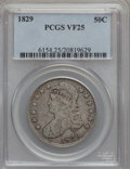 Bust Half Dollars: , 1829 50C Small Letters VF25 PCGS. PCGS Population (30/1248). NGCCensus: (19/995). Mintage: 3,712,156. Numismedia Wsl. Pric...