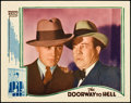 "Movie Posters:Crime, Doorway to Hell (Warner Brothers, 1930). Lobby Card (11"" X 14"").Crime.. ..."