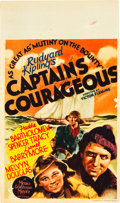 "Movie Posters:Adventure, Captains Courageous (MGM, 1937). Midget Window Card (8"" X 14"")....."