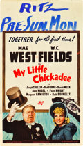 "Movie Posters:Comedy, My Little Chickadee (Universal, 1940). Midget Window Card (8"" X14"").. ..."