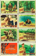 "Movie Posters:War, The Bridge on the River Kwai (Columbia, 1958). Lobby Card Set of 8 (11"" X 14"").. ... (Total: 8 Items)"
