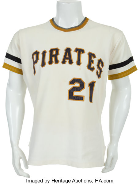 new arrival e918e 47dc2 Early 1970's Roberto Clemente Game Worn Pittsburgh Pirates ...
