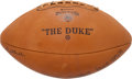 Football Collectibles:Balls, 1965 Green Bay Packers Team Signed Football - Near Perfect Example!...