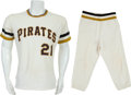 Baseball Collectibles:Uniforms, Early 1970's Roberto Clemente Game Worn Pittsburgh Pirates Jersey....