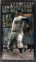 Autographs:Others, 2004 Don Larsen Signed Perfect Game Giclee by Stephen Holland....