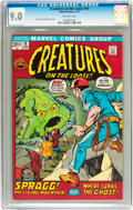 Bronze Age (1970-1979):Horror, Creatures on the Loose #15 (Marvel, 1972) CGC VF/NM 9.0 Off-whitepages....