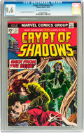 Bronze Age (1970-1979):Horror, Crypt of Shadows #13 (Marvel, 1974) CGC NM+ 9.6 Off-white to whitepages....