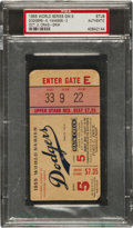 Baseball Collectibles:Tickets, 1955 World Series Game 5 Ticket Stub PSA Authentic....