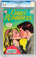 Silver Age (1956-1969):Romance, Girls' Romances #101 (DC, 1964) CGC NM 9.4 Off-white pages....