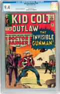 Silver Age (1956-1969):Western, Kid Colt Outlaw #116 (Atlas/Marvel, 1964) CGC NM 9.4 Off-white towhite pages....