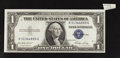 Error Notes:Attached Tabs, Fr. 1615 $1 1935F Silver Certificate. Extremely Fine-AboutUncirculated.. ...