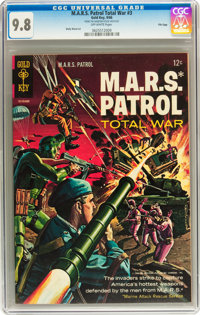 M.A.R.S. Patrol Total War #3 File Copy (Gold Key, 1966) CGC NM/MT 9.8 Off-white pages