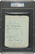 Autographs:Others, 1939 New York Yankees Partial Team Signed Sheet with Gehrig....