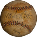 Autographs:Baseballs, Early 1930's Babe Ruth, Lou Gehrig, Joe McCarthy SignedBaseball....