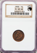 Proof Indian Cents: , 1908 1C PR65 Red and Brown NGC. Ex: Eagle Eye Photo Seal withcertificate. NGC Census: (50/33). PCGS Population (49/16). Mi...