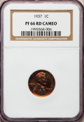 Proof Lincoln Cents, 1937 1C PR66 Red Cameo NGC....