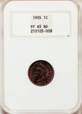 Proof Indian Cents, 1905 1C PR65 Red NGC....