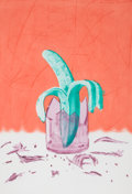 Prints, JAMES ROSENQUIST (American, b. 1933). The Glass Wishes: On Stage, 1981. Aquatint and etching in colors. Image: 23-1/2 x ...