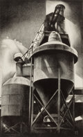 Fine Art - Work on Paper:Print, LOUIS LOZOWICK (American, 1892-1973). Tanks #2, 1929.Lithograph. Image: 14-1/2 x 8-3/4 inches (36.8 x 22.2 cm). Sight:...