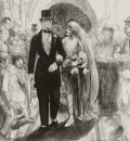 Fine Art - Work on Paper:Print, GEORGE WESLEY BELLOWS (American, 1882-1925). Wedding, circa1923-24. Lithograph. Image: 10-3/4 x 9-3/4 inches (27.3 x 24...