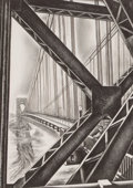 Fine Art - Work on Paper:Print, HOWARD NORTON COOK (American, 1901-1980). George WashingtonBridge with B, 1932. Lithograph. Image: 13-7/8 x 9-3/4 inche...