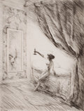 Prints, OTTO GOETZE (German, 1868-1931). In Betrachtung, circa 1930. Etching. Image: 10-3/4 x 8-1/4 inches (27.3 x 21.0 cm). Sig...