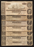 Confederate Notes:1864 Issues, T67 $20 1864. Seven Examples.. ... (Total: 7 notes)