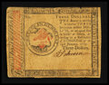 Colonial Notes:Continental Congress Issues, Continental Currency January 14, 1779 $3 Fine-Very Fine.. ...