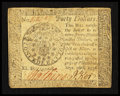 Colonial Notes:Continental Congress Issues, Continental Currency September 26, 1778 $40 Extremely Fine-AboutNew.. ...