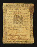 Colonial Notes:Pennsylvania, Pennsylvania July 20, 1775 10s Very Fine.. ...