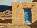 Paintings, ERIC SLOANE (American, 1905-1985). Taos Blue. Oil on masonite. 17 x 22 inches (43.2 x 55.9 cm). Signed and initialed low...