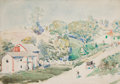 Fine Art - Painting, American:Modern  (1900 1949)  , CHILDE HASSAM (American, 1859-1935). Country Road.Watercolor on paper . 14 x 20 inches (35.6 x 50.8 cm). Signed lowerl...
