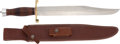 Edged Weapons:Knives, Randall Model 12-13 Thorpe Bowie Knife with Scabbard....