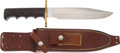 Edged Weapons:Knives, Randall Model 14 Attack Knife with Scabbard. ...
