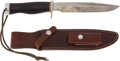 Edged Weapons:Knives, Randall Model 5-7 Camp & Trail Knife with Scabbard....