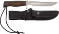 Edged Weapons:Knives, Randall Model 306 Hunting Knife with Scabbard....