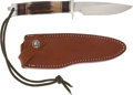 Edged Weapons:Knives, Randall Model 2604 Pathfinder Hunting Knife and Scabbard....