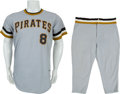 Baseball Collectibles:Uniforms, 1975 Willie Stargell Game Worn Pittsburgh Pirates Uniform....