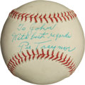 Autographs:Baseballs, 1950's Pie Traynor Single Signed Baseball, PSA/DNA NM+ 7.5....