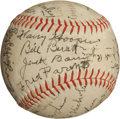 Autographs:Baseballs, 1930's Baseball Legends Multi-Signed Baseball with Nichols,Alexander....