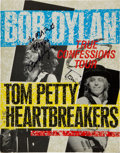 Music Memorabilia:Autographs and Signed Items, Bob Dylan and Tom Petty Signed Tourbook....