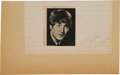 Music Memorabilia:Autographs and Signed Items, John Lennon Autograph....