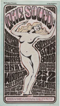 Music Memorabilia:Posters, Jefferson Airplane/Butterfield Blues Band Winterland/Fillmore HandColored Concert Poster BG-29 (Bill Graham, 1966)....
